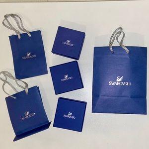 Swarovski 3 boxes+3gift bags